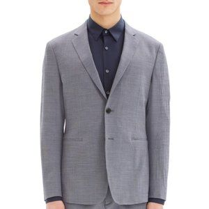 Theory Clinton Micro Houndstooth Wool Blend Blazer